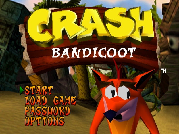 Menu Crash Bandicoot