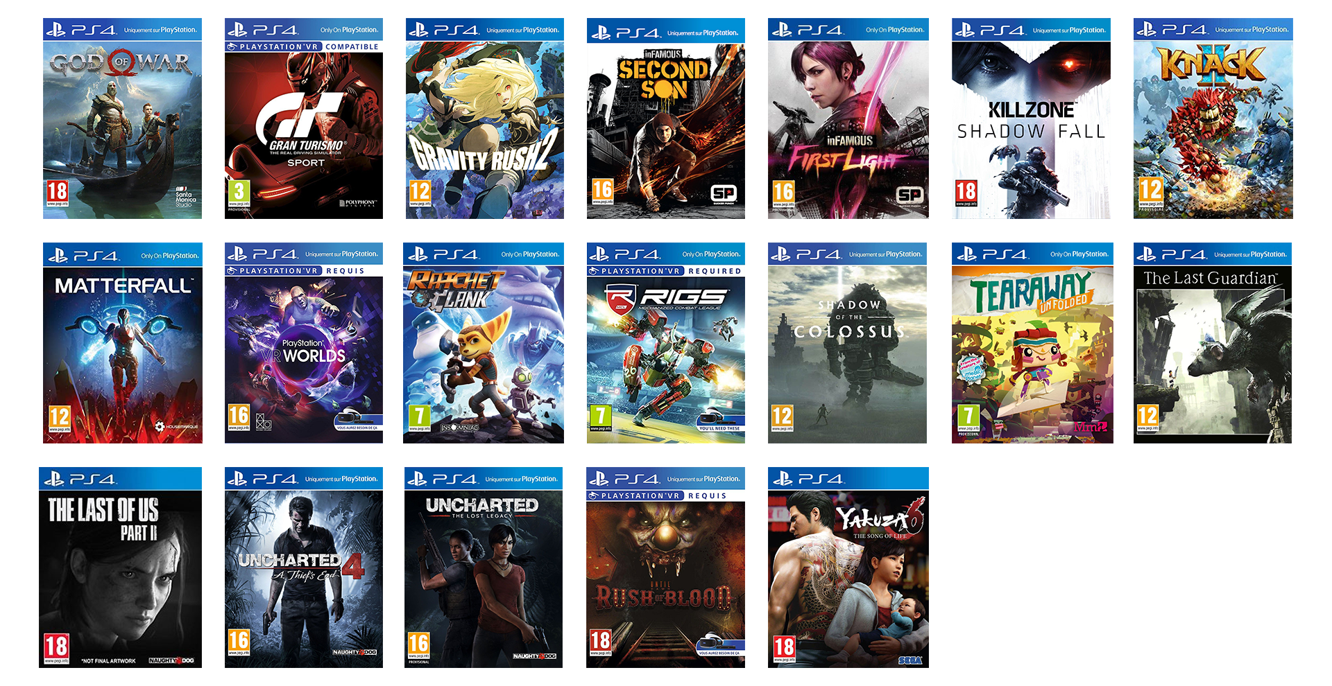 Jeux Exclusifs PS4