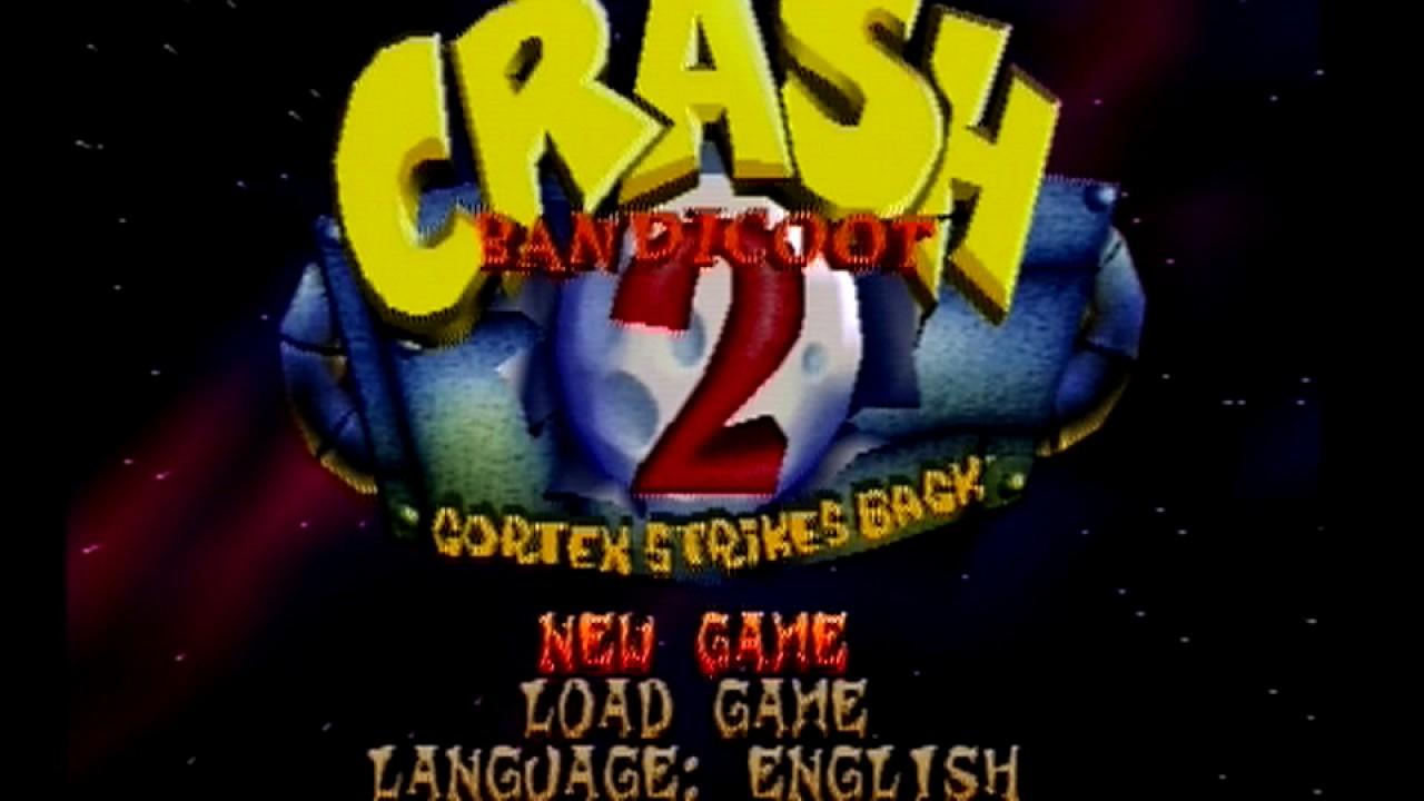 Menu Crash Bandicoot 2