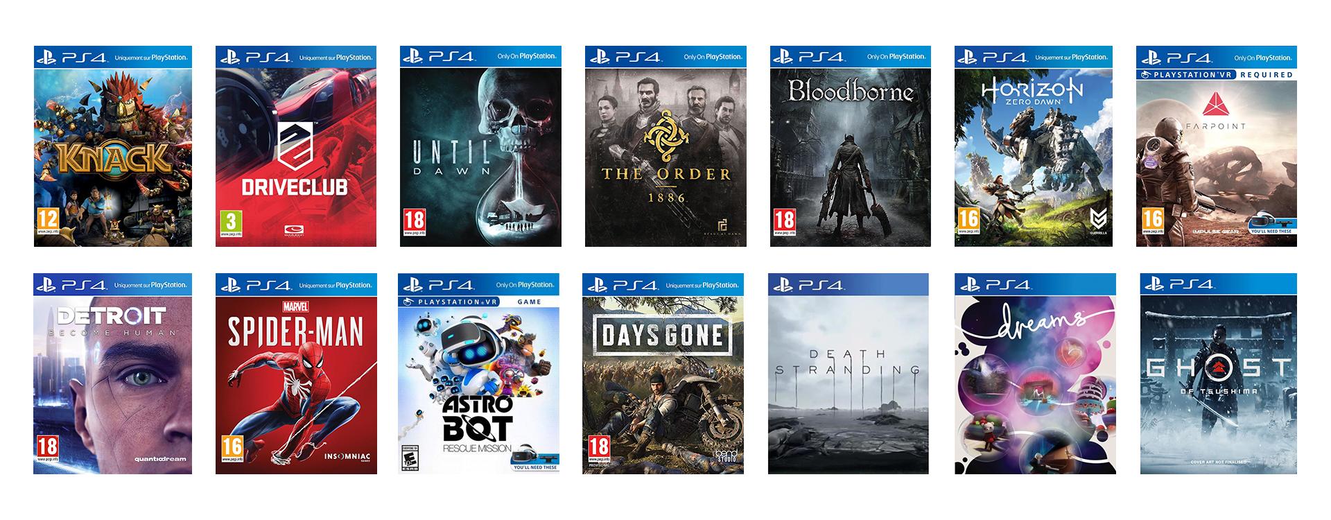 Nouvelles Exclusivités PS4