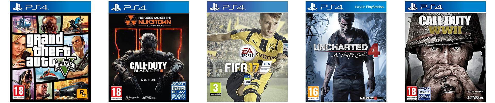 Les 5 Jeux les plus Vendus sur la PS4