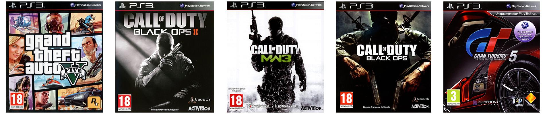 Les 5 Jeux les plus Vendus sur la PS3